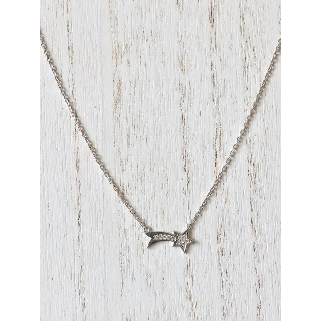 Sample Sale! Shooting Star CZ Necklace