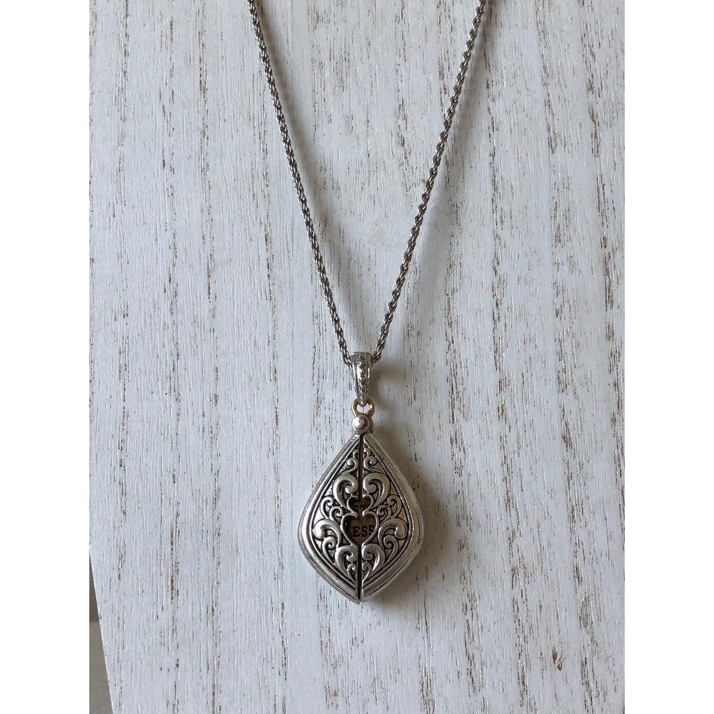 The Fast Flash! Hidden Message Locket-Silver/Teardrop