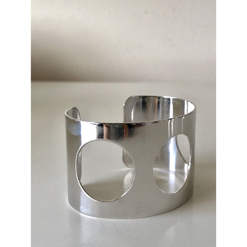 Sample Sale! Silver Circle Cut Out Cuff