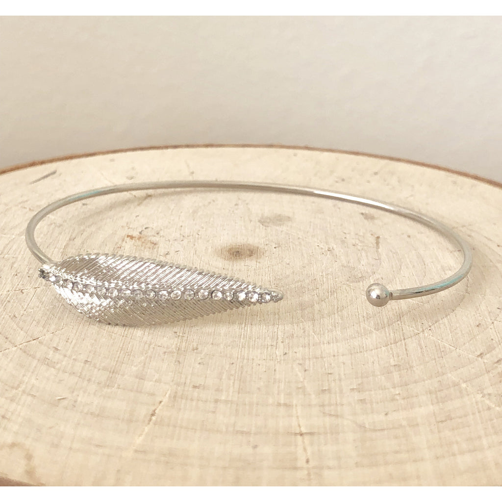 Sample Sale! Silver Feather Cuff