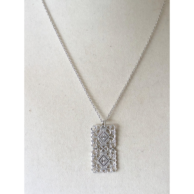 Sample Sale! Silver Filigree Pendant