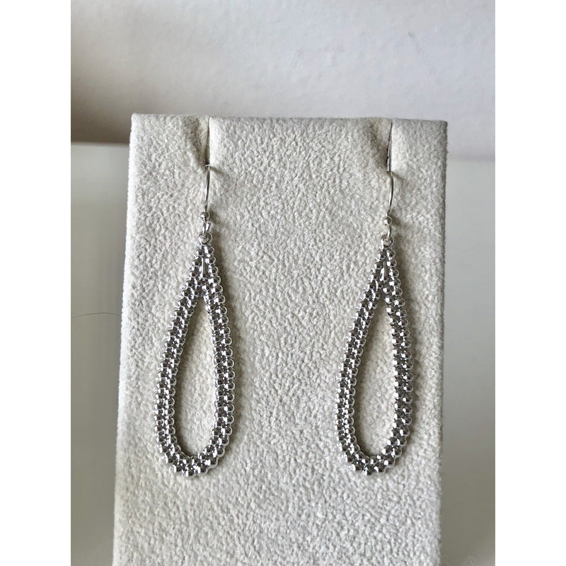 Sample Sale! Silver Bead Pear Drop Earring