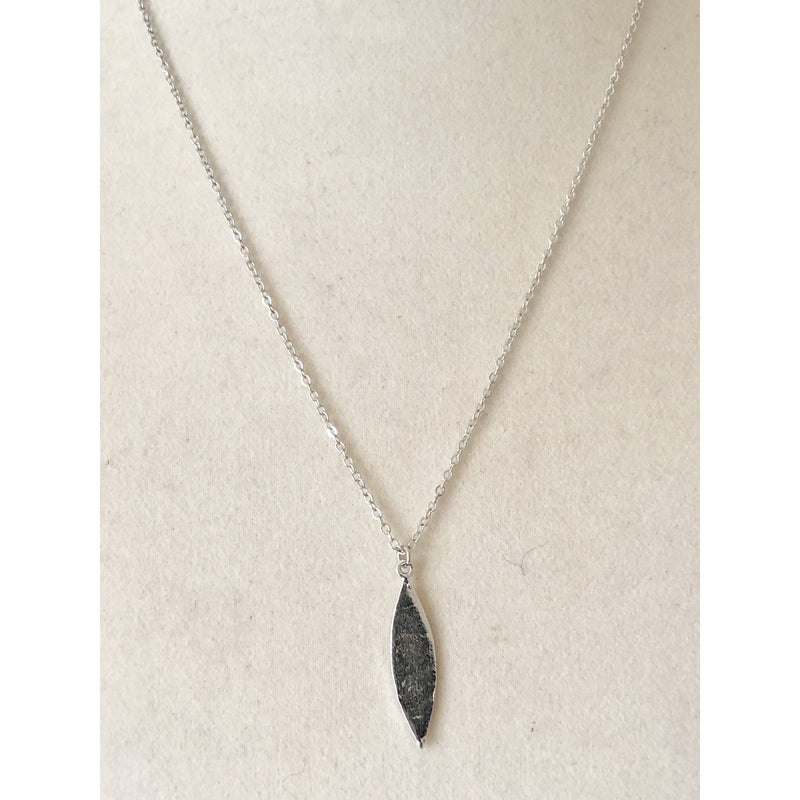 Sample Sale! Brushed Marquis Pendant