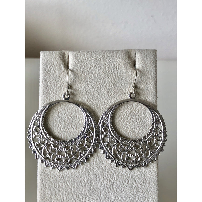 Sample Sale! Silver Round Hoop Earring
