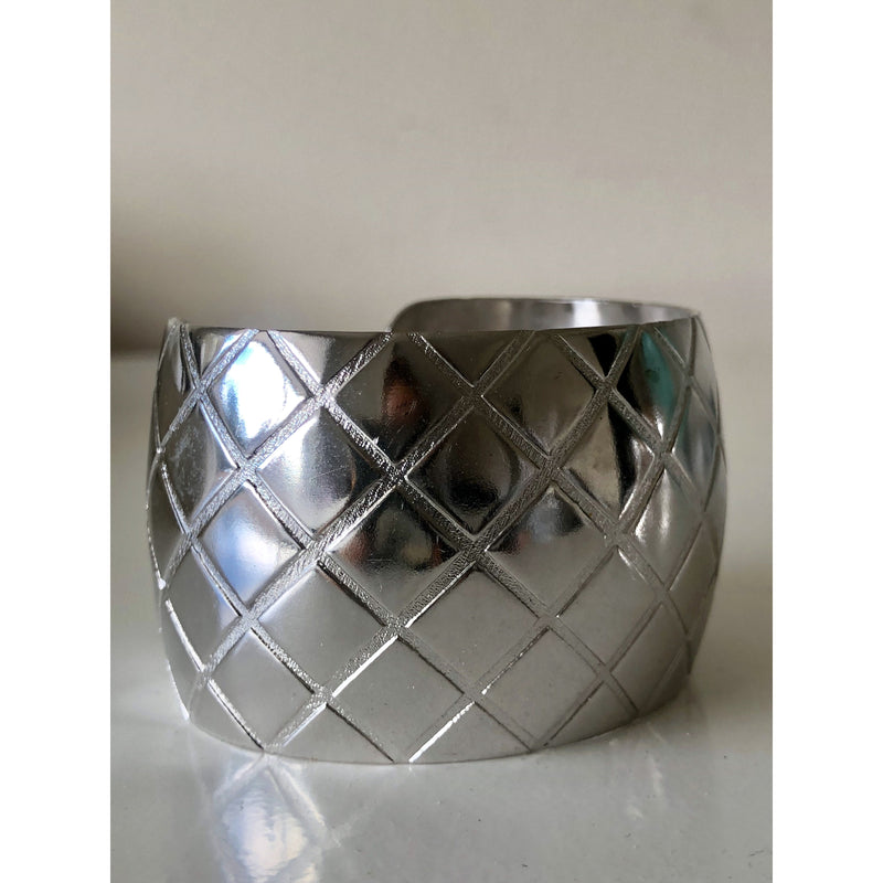 Sample Sale! Silver Quilted Cuff