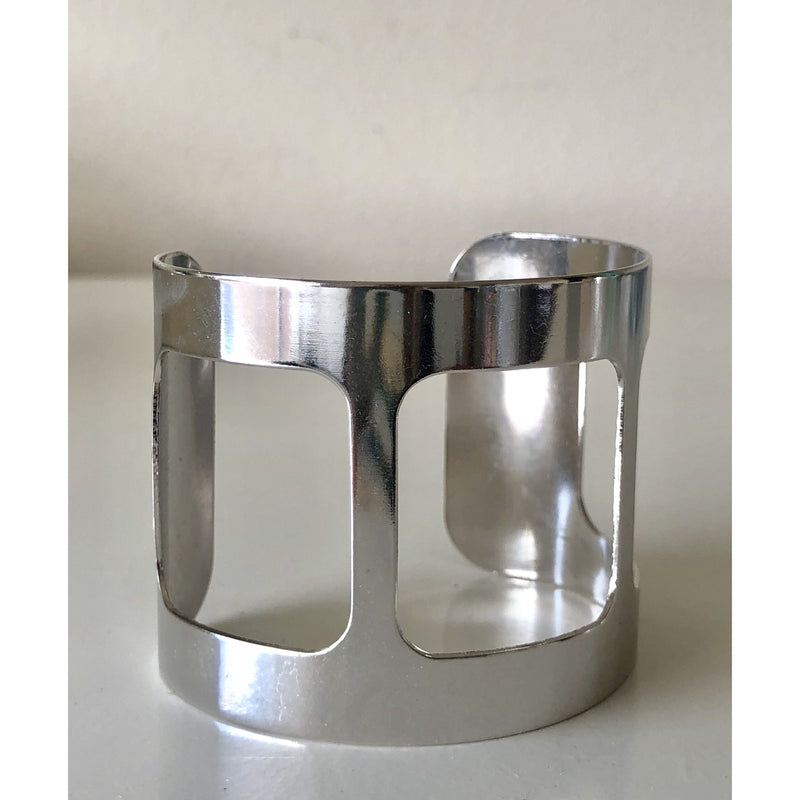 Sample Sale! Silver Square Cut Out Cuff