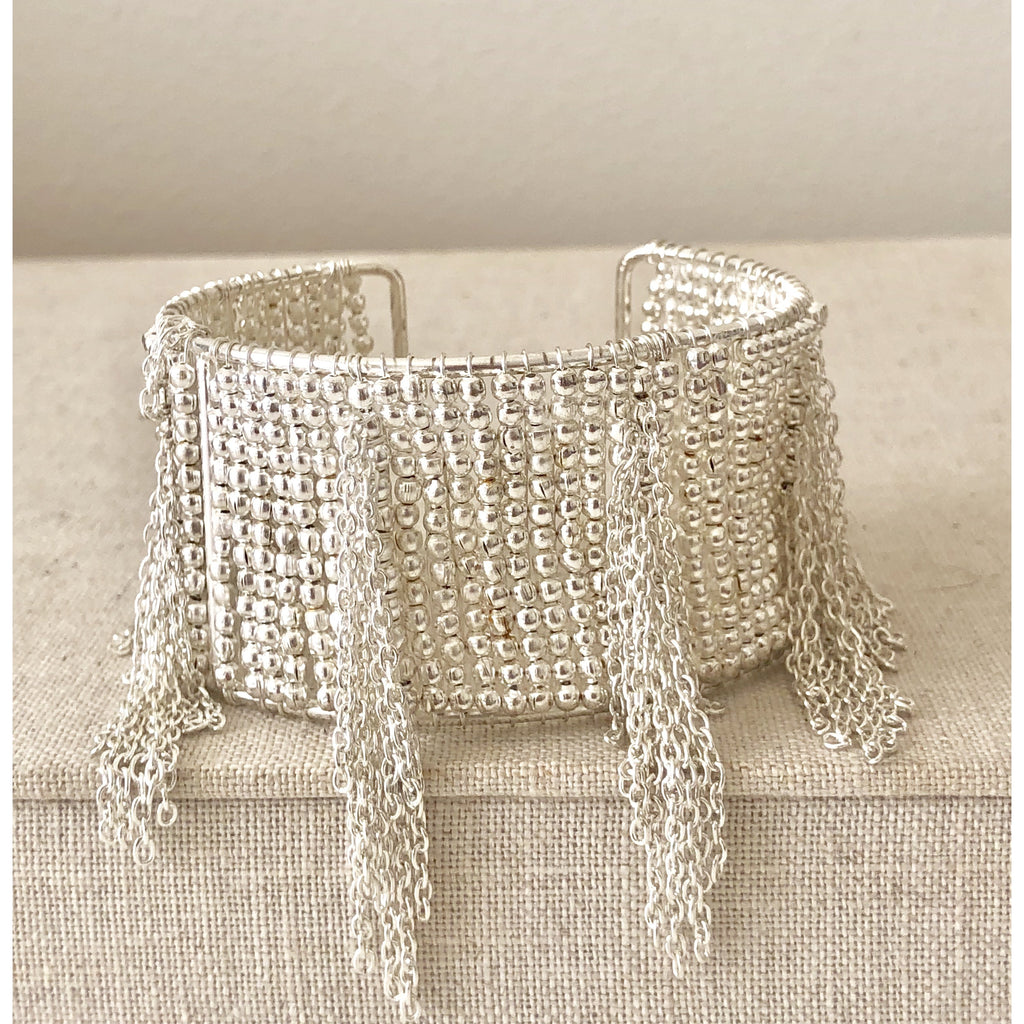 The Fast Flash! Silver Fringe Cuff