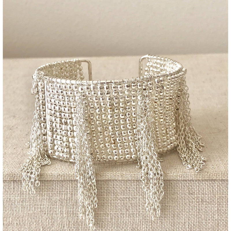 The Fast Flash!  Fringe Cuff Silver