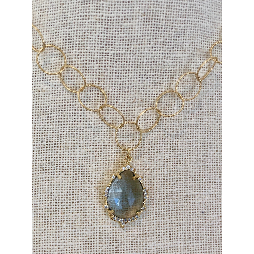 Sample Sale!  Smoky Quartz Pear Choker