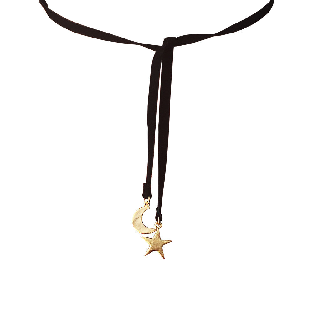 Star and Moon Lariat Choker