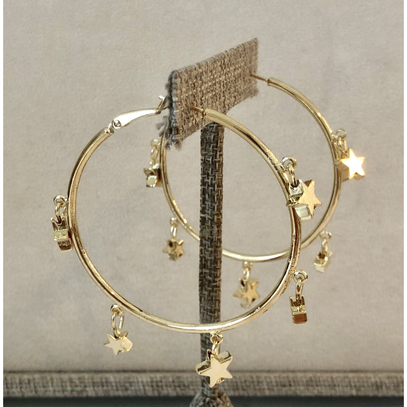 Sample Sale! Star Dangle Hoops