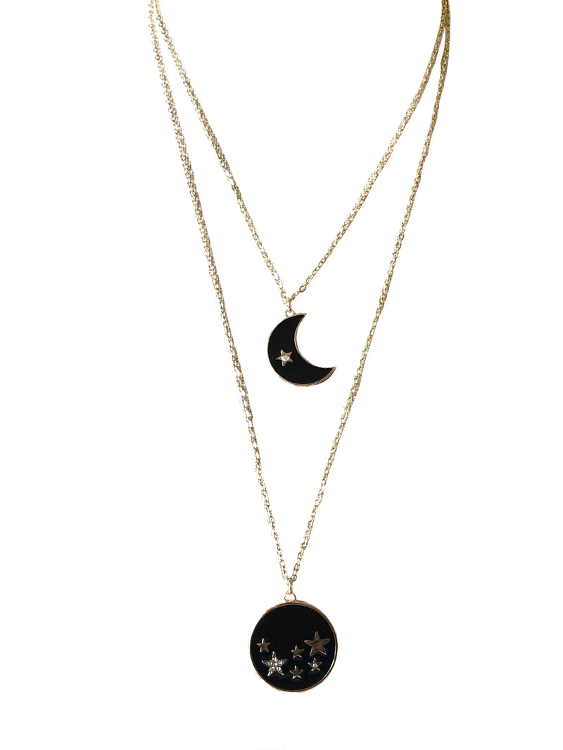 The Fast Flash! Double Star & Moon Necklace