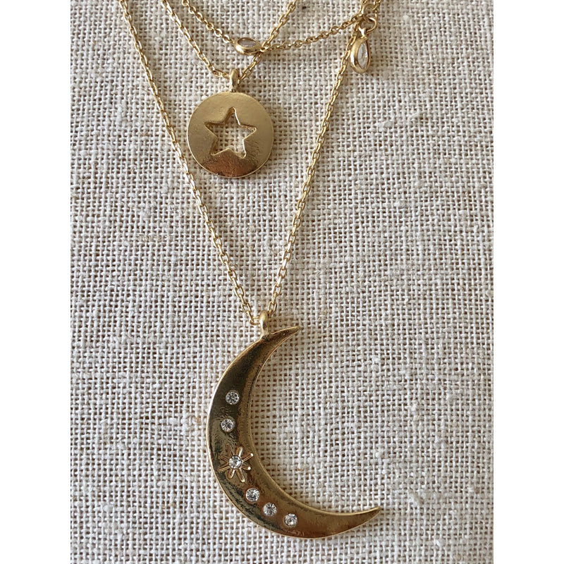 Sample Sale! Star Moon Necklace