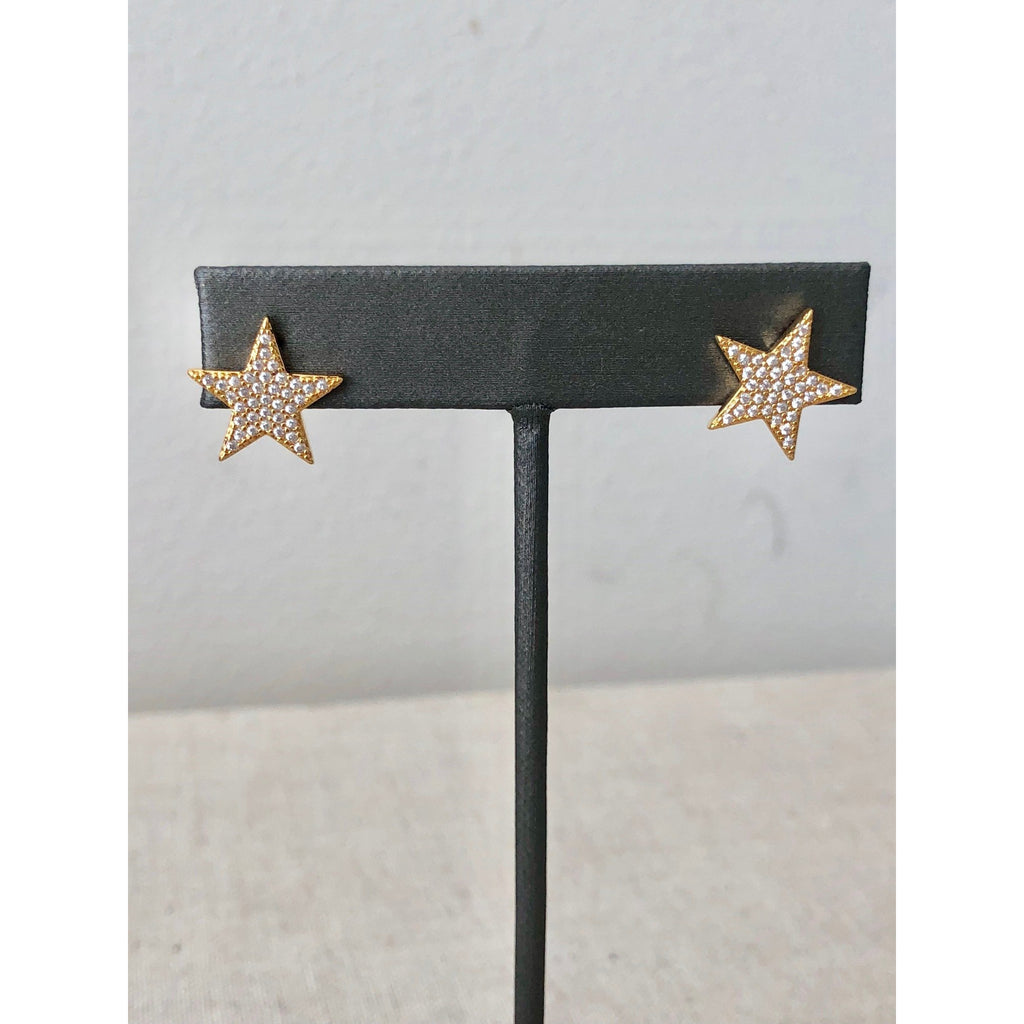 Sample Sale! Pave Star Stud Earrings