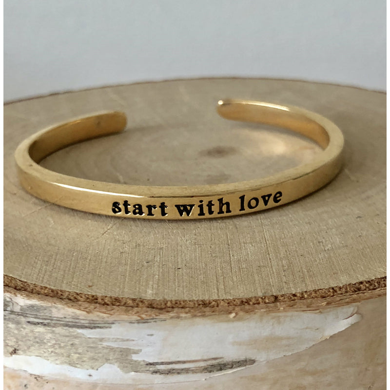 Sample Sale! Start with Love Cuff-Gold