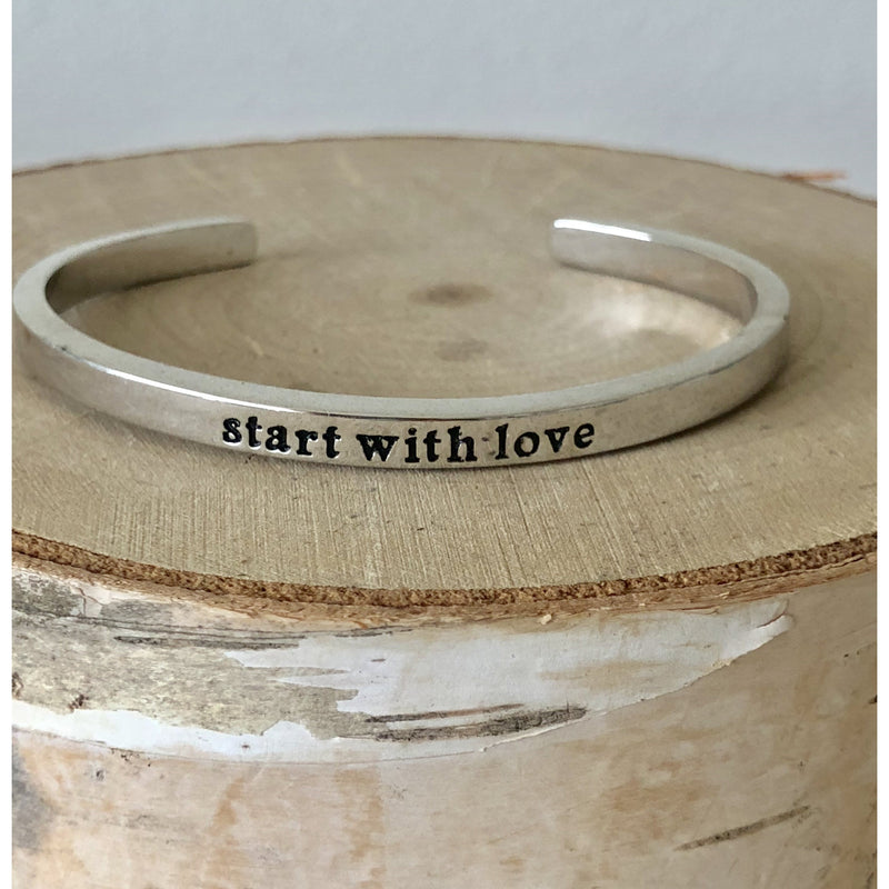 Sample Sale! Start with Love Cuff-Silver