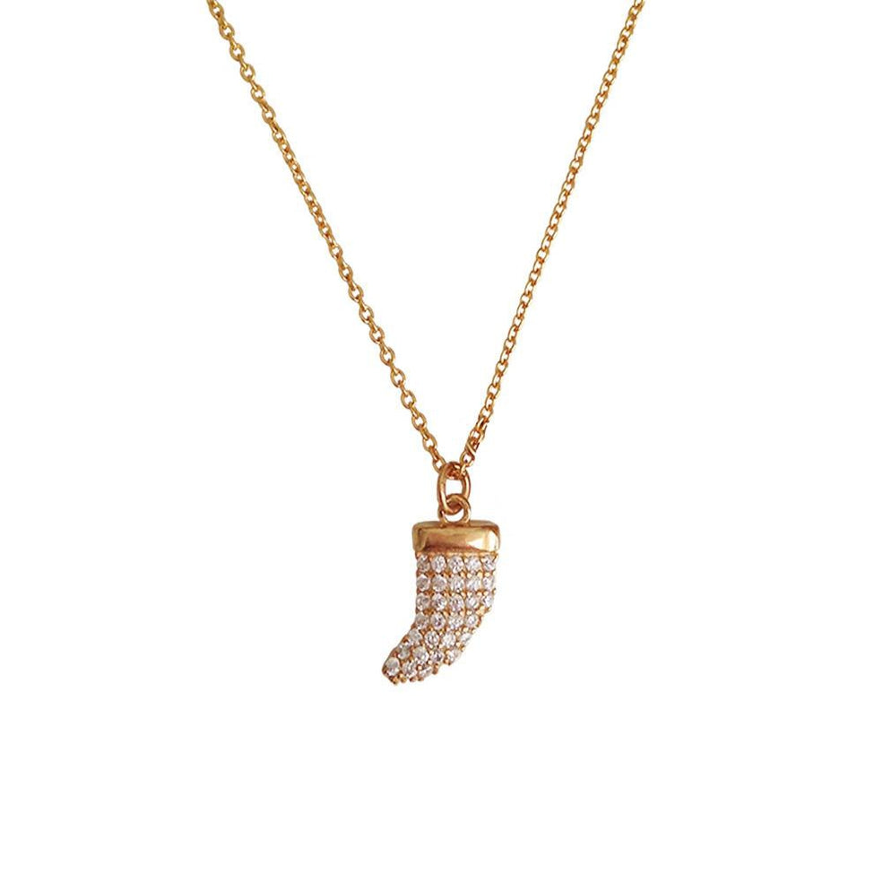 Luxe CZ Horn Necklace