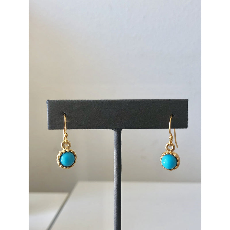Sample Sale! Turquoise Cabochon Drop Earring