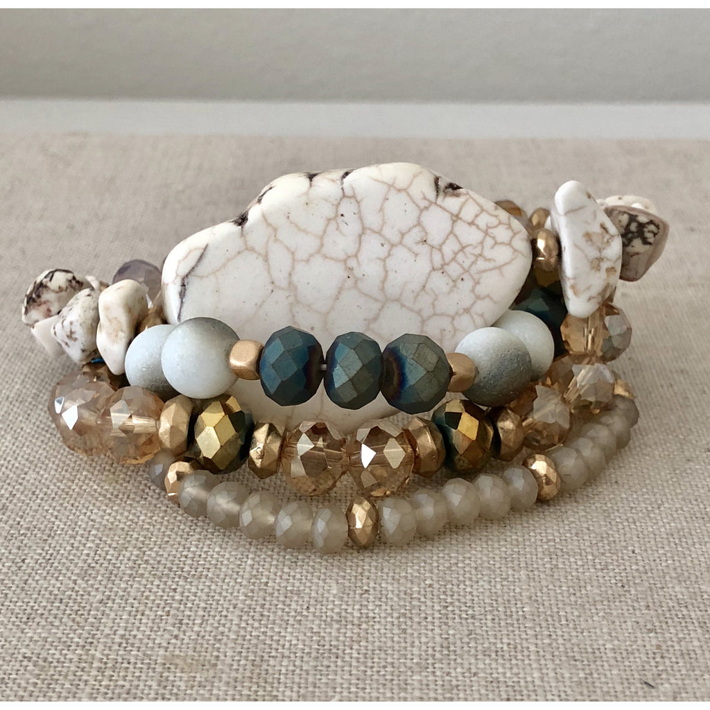 Sample Sale! White Stone Stack