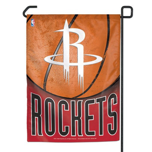 "HOUSTON ROCKETS 11""x15"" garden flag banner new"