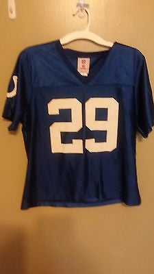 WOMENS INDIANAPOLIS COLTS JOSEPH ADDAI FOOTBALL JERSEY SIZE LARGE