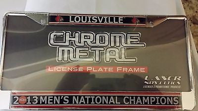 LOUISVILLE CARDINALS 2013 NCAA BASKETBALL CHAMPIONS METAL LICENSE FRAME
