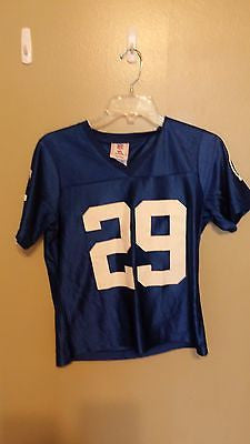 INDIANAPOLIS COLTS JOSEPH ADDAI FOOTBALL JERSEY SIZE SMALL  ADULT WOMANS