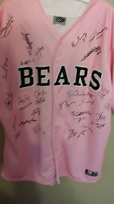 2011 TACOMA BEARS BREAST CANCER GAME USED BASEBALL JERSEY SIZE 50 AUTOGRAPHED