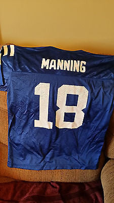 INDIANAPOLIS COLTS PEYTON MANNING FOOTBALL JERSEY SIZE MED YOUTH AUTH REEBOK