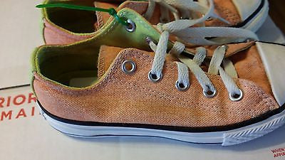 CONVERSE ALL STAR KIDS SIZE 12 LOW TOP CHUCK TAYLORS ORANGE