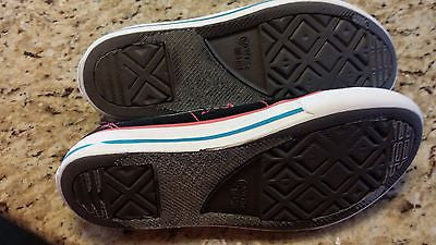 CONVERSE ONE STAR KIDS SIZE 1 LOW TOP CHUCK TAYLORS BLACK SLIP ONS