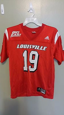 LOUISVILLE CARDINALS BIG EAST FOOTBALL JERSEY SIZE L 14-16 YOUTH