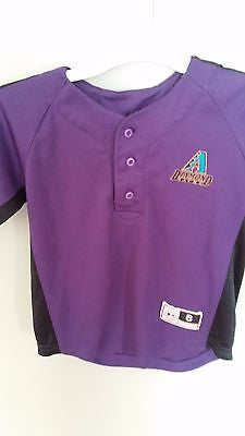 ARIZONA DIAMONDBACKS BASEBALL JERSEY SIZE 6 YOUTH