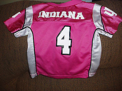 INDIANA HOOSIERS FOOTBALL JERSEY SIZE 3T YOUTH PINK