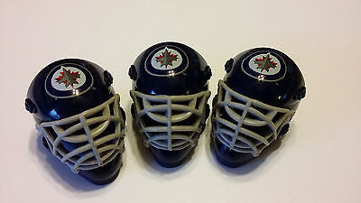 LOT OF 3 WINNIPEG JETS POCKET SIZED GOALIE MASK HELMETS FRANKLIN BULK