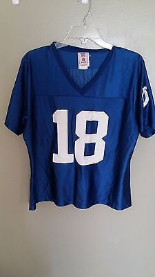 INDIANAPOLIS COLTS WOMANS PEYTON MANNING FOOTBALL JERSEY SIZE XL ADULT  62015