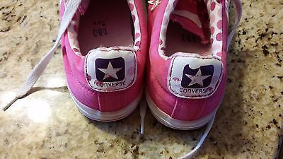 CONVERSE CHUCK TAYLOR LOW ONE STAR SNEAKER ADULT SIZE WMS 4 PINK POLKA DOTS