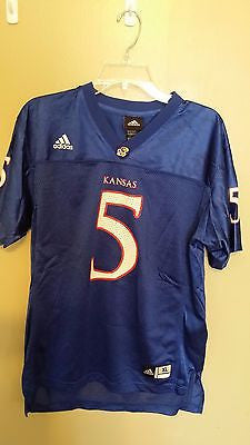 ADIDAS KANSAS JAYHAWKS FOOTBALL JERSEY SIZE XL YOUTH