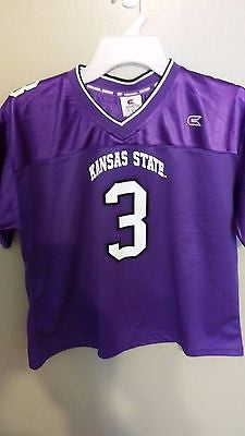 COLOSSEUM KANSAS STATE WILDCATS FOOTBALL JERSEY SIZE MED ADULT JRS