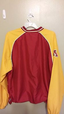 MINNESOTA GOLDEN GOPHERS LIGHT WEIGHT PULL OVER JACKET SIZE XL ADULT