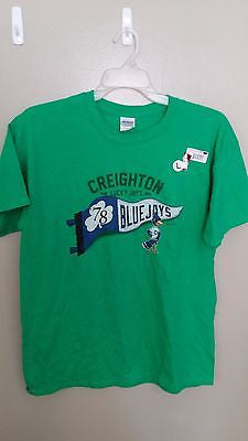 CREIGHTON BLUEJAYS LUCKY JAYS T SHIRT SIZE  LARGE ADULT