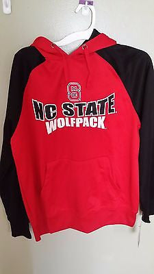 COLOSSEUM NC STATE WOLFPACK NORTH CAROLINA PULL OVER HOODIE SWEATSHIRT MED NEW