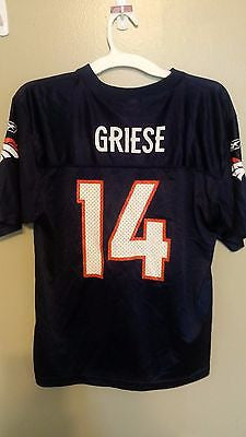 DENVER BRONCOS BRIAN GRIESE FOOTBALL JERSEY SIZE XL 18-20 YOUTH