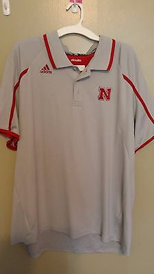 NEBRASKA HUSKERS ADDIDAS CLIMALITE POLO SHIRT SIZE 2XL ADULT