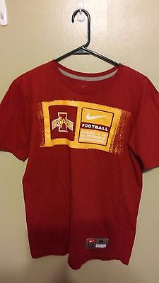 IOWA STATE CYCLONES NIKE T SHIRT SIZE MED STANDARD FIT ADULT
