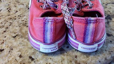 CONVERSE ALL STAR KIDS SIZE 7 LOW TOP CHUCK TAYLORS RED TODDLER