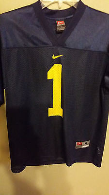 MICHIGAN WOLVERINES NIKE FOOTBALL JERSEY SIZE MED 10-12 YOUTH