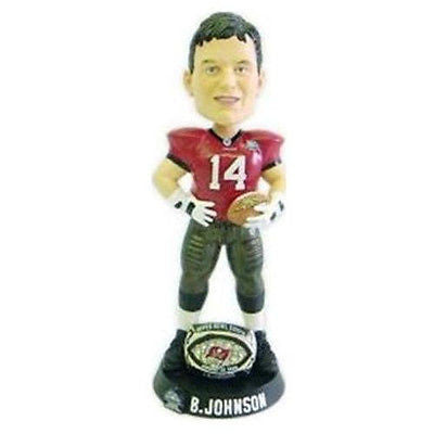 Tampa Bay Buccaneers NFL brad Johnson ring Super Bowl 37 Champ bobble head