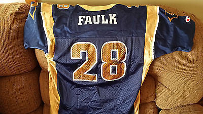 ST LOUIS RAMS MARSHALL FAULK FOOTBALL JERSEY SIZE 14-16 YOUTH