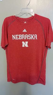 NEBRASKA HUSKERS ADIDAS CLIMALITE PERFORNCE SHIRT SIZE XL YOUTH